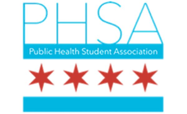 The Public Health Association logo, with the letters PHSA atop a Chicago flag.