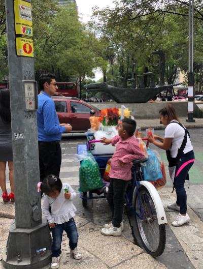 A Street Vendor in Mexico City