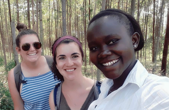 Field Work with Erica and Mercy, a student at Maseno