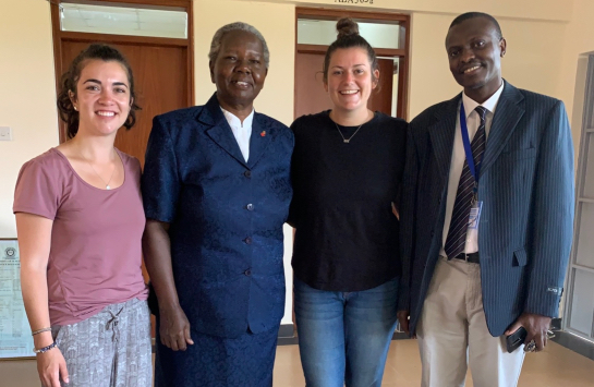 Erica, Asenath, Karissa, and the Head of the Public Health Nutrition Department at Asenath's Office