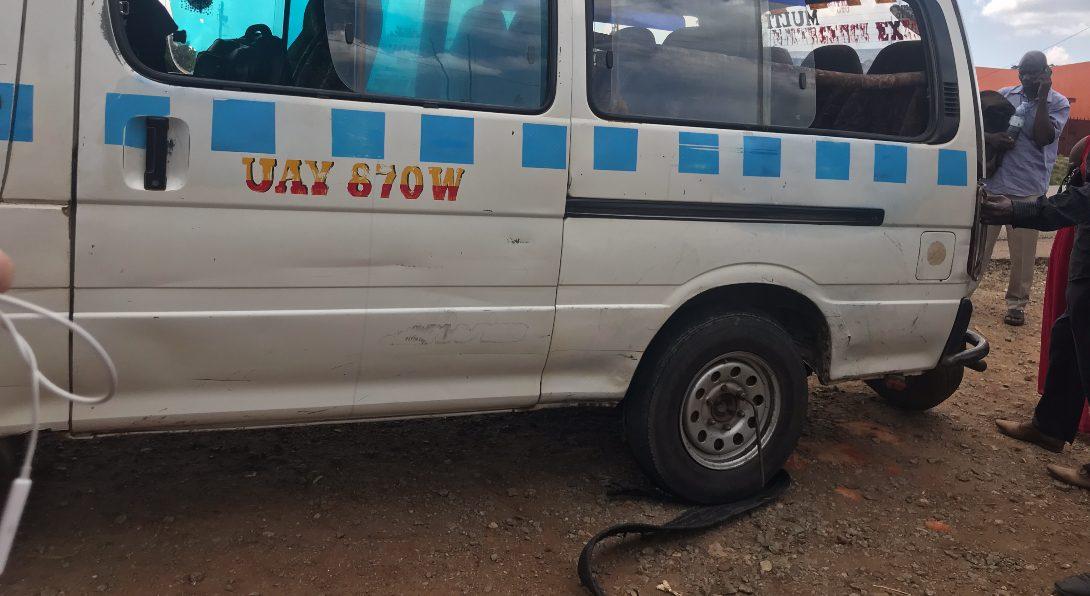 Flat Tire on Our Matatu