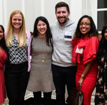 Alumni pose for a photo at the 2018 Annual Alumni Celebration.
