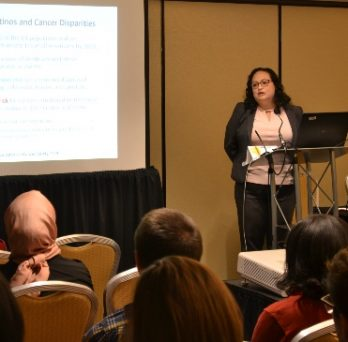 Alumna Lisa Aponte-Soto presents at the 2019 APHA conference.