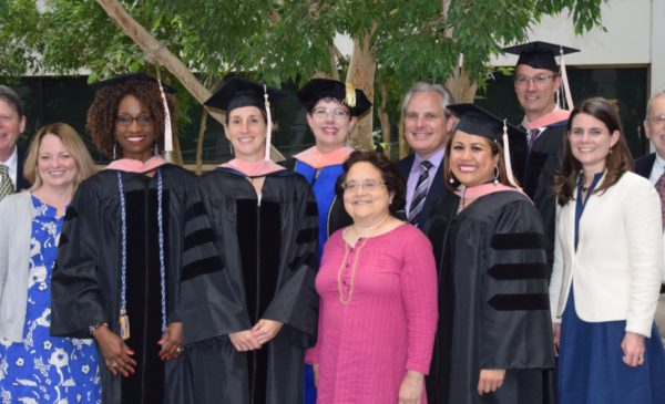 2019 DrPH graduates pose for a picture with program faculty.
