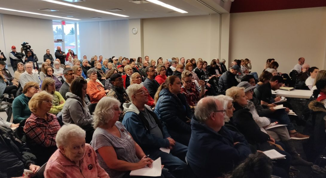 Lake County, Illinois residents listen to Dr. Susan Buchanan's presentation at the Warren Newport Public Library.