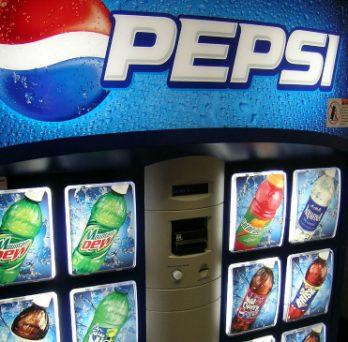 A Pepsi vending machine.