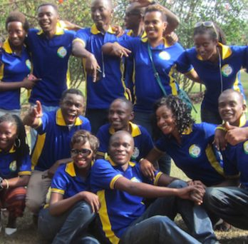Youth leaders in the KIP program pose for a photo.