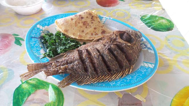 Chapati and Fried Tilapia