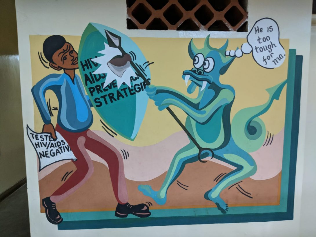 Murals from the lobby of UNIM.