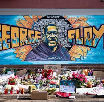 A memorial for George Floyd outside of Cup Foods in Minneapolis.