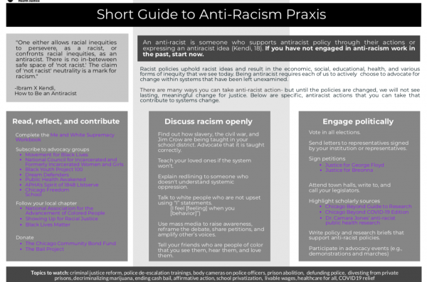 Front cover of the short guide to anti-racist praxis