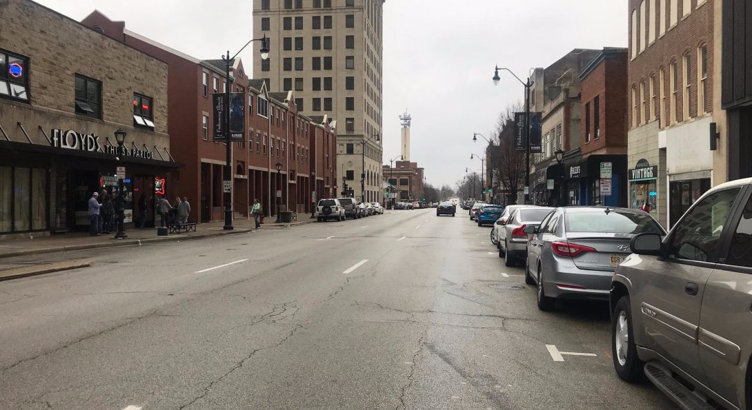 Springfield, Illinois streets are silent on St. Patrick's Day 2020.
