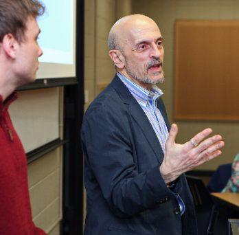 Joseph Zanoni speaks to a class during instruction.