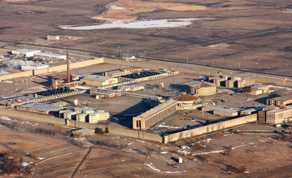 An aerial view of the Stateville Correctional Center.