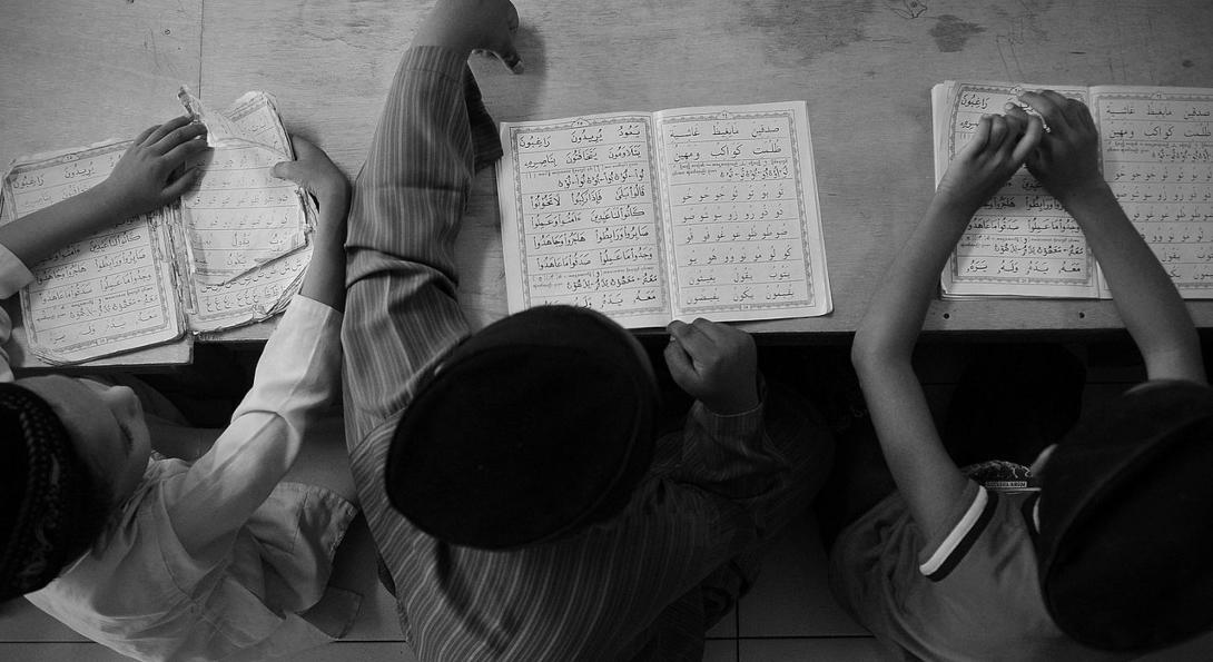 Rohingya orphans at Madrasah Hashimiah, a school for orphans in Kuala Lumpur, Malaysia.