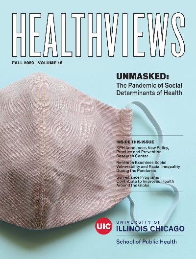 The cover of the fall 2020 edition of Healthviews magazine.