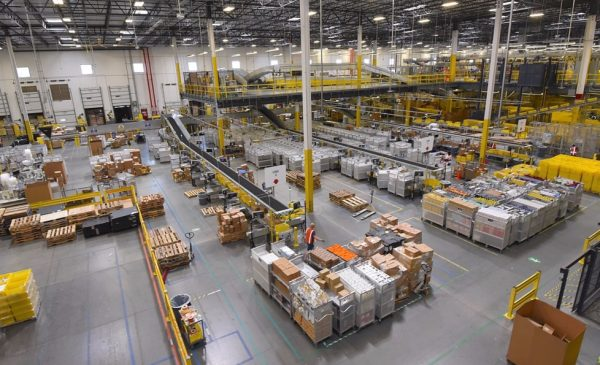 An Amazon warehouse in Baltimore, Maryland.