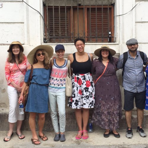 UIC School of Public Health students completing summer fieldwork in Cuba pose together for a photo.