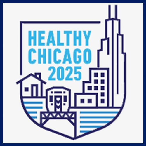 The logo for the Healthy Chicago 2025 campaign.