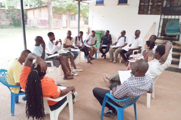 A group meeting at the Anza Mapema clinic in Kisumu, Kenya.