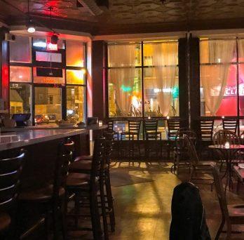 An empty restaurant in Chicago.