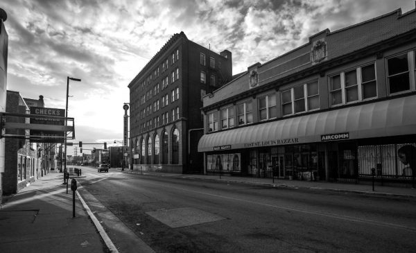 A street in downtown East St. Louis
