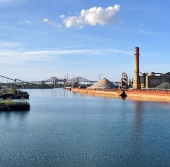 Industries line the Calumet River in the far southeast corner of Chicago.