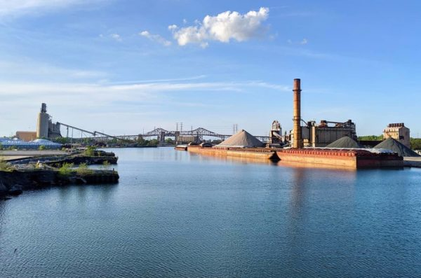 The Calumet River and the industries that line it on Chicago's southeast side.